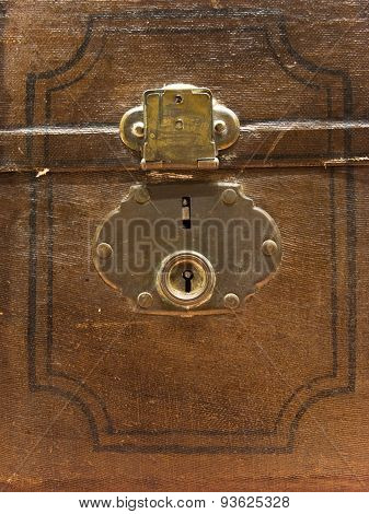 Old Brown Trunk Lock