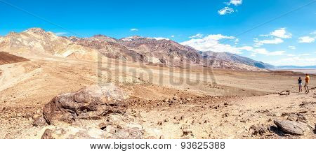 Mountains With Pyramid Peak In Death Valley