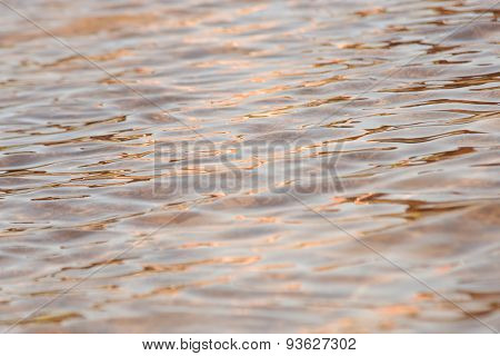 Water Ripple, Smooth Texture Backgroun Gold