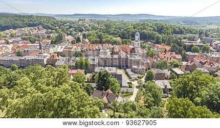 Panoramic View Of Bolkow Town, Poland.