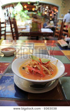 Tortilla Soup In Restaurant