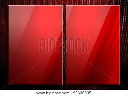 glass on metal template