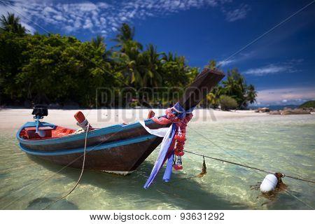 Beautiful Boat On The Beach