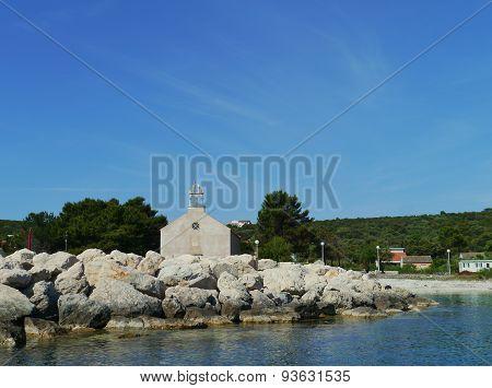 The Krijal church on Ptrmuda in Croatia