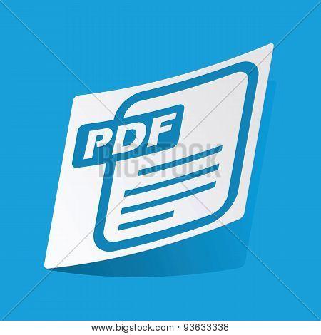PDF file sticker