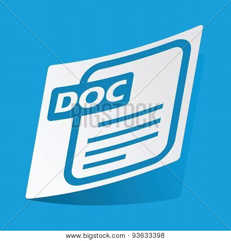 DOC file sticker