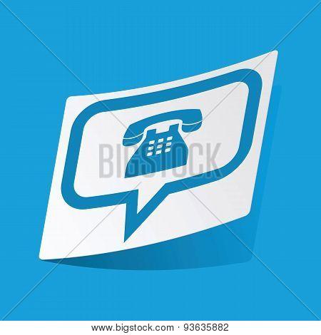 Phone message sticker