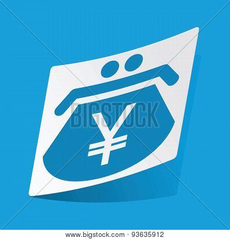 Yen purse sticker