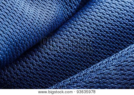 Forms of blue fabric texture