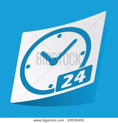24 hours sticker