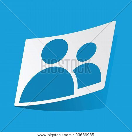 Contacts sticker