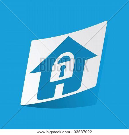 Locked house sticker