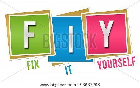 FIY - Fix It Yourself Colorful Blocks