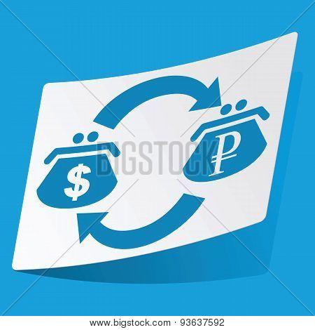 Dollar-ruble exchange sticker