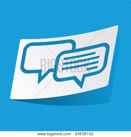 Chatting sticker