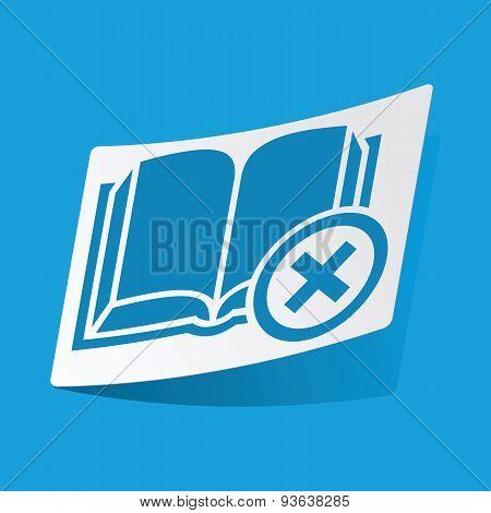 Remove book sticker