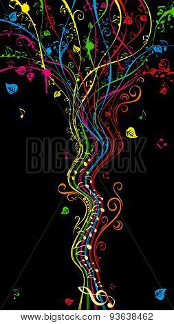 Colorful Music Tree.