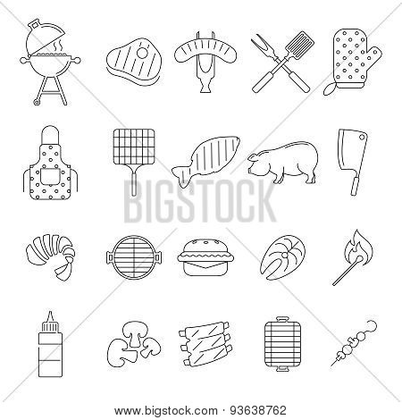 Barbecue or Grill Icons
