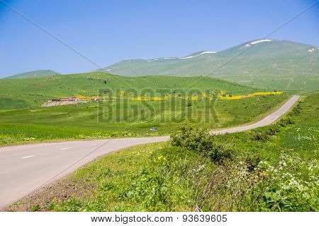 Landscape with rural road, Armenia