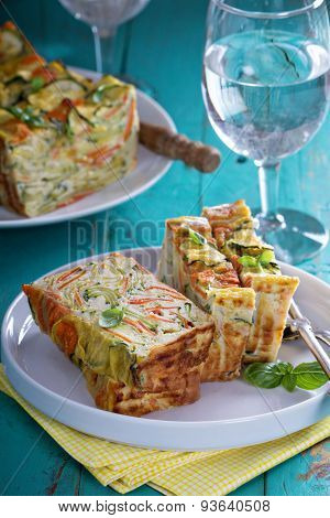 Gluten free vegetable loaf with zucchini