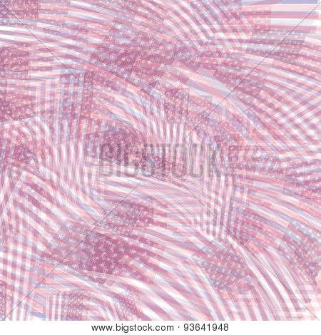 Blue-red Toned Us Flag Background