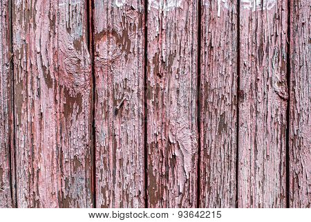 chipped paint on the door of the old boards background