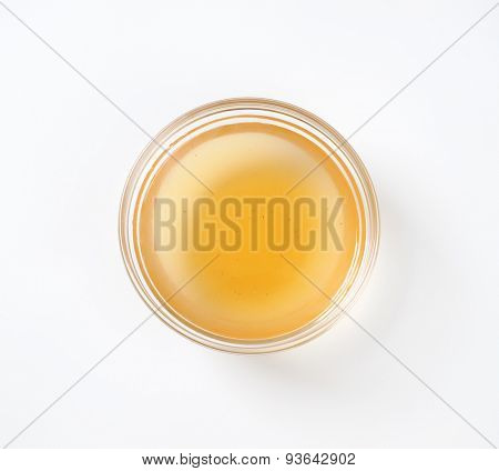 bowl of compote juice on white background