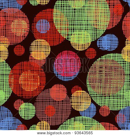 Vector seamless shading circles background. Eps10