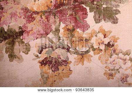 Vintage Shabby Floral Background, Toned Image