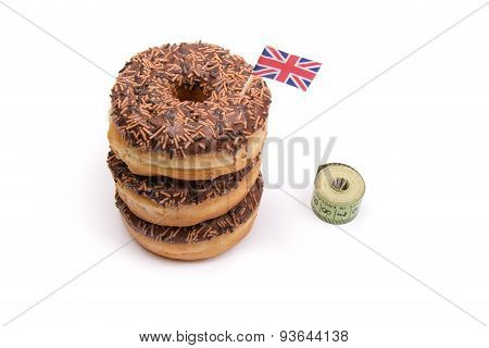 British Donuts and Tape Measure