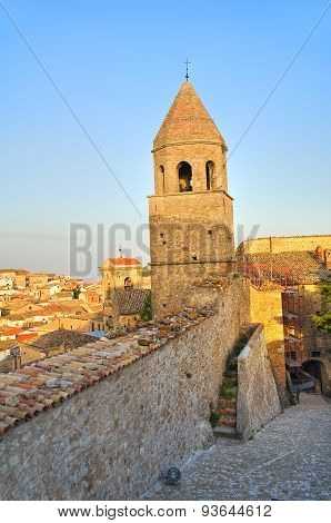 Panoramic view of Bovino. Puglia. Southern Italy.