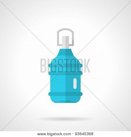 Plastic bottle flat vector icon