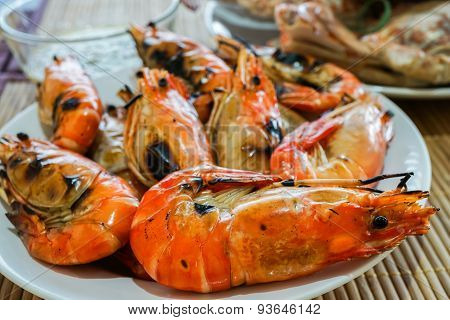 Grilled Prawn Is Delicious Seafood