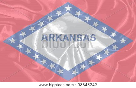 Silk Flag Of The State Arkansas