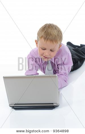 Boy With A Laptop.
