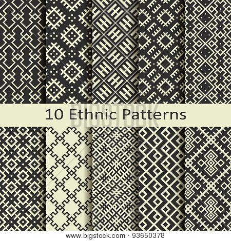 set of ten ethnic patterns