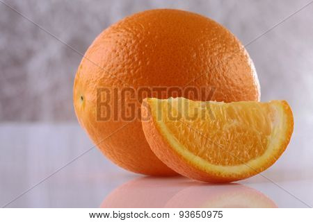 Orange On Grey Background