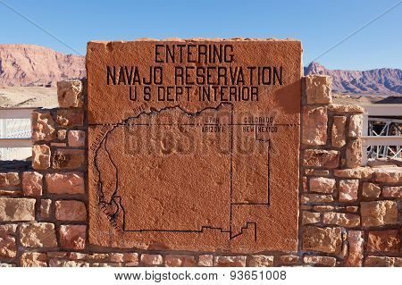 Navajo Reservation Sign