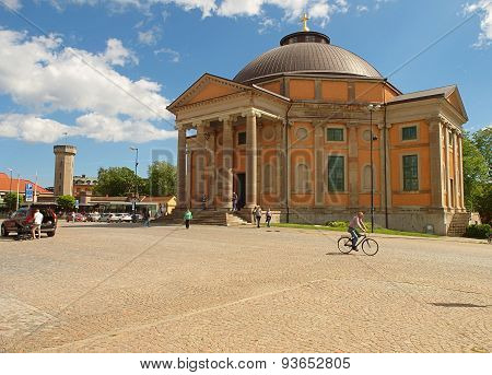 The baroque church with in Karlskrona