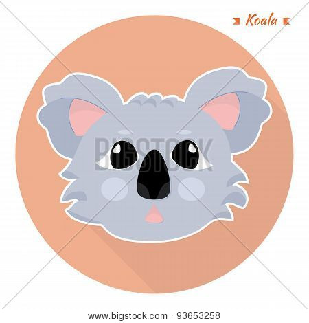 head of the animal koalas