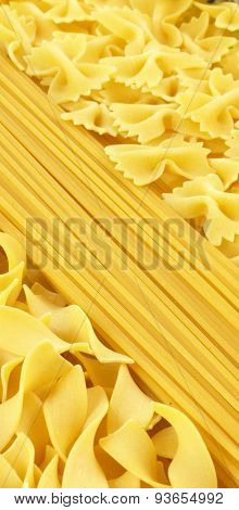 Dry And Raw Pasta