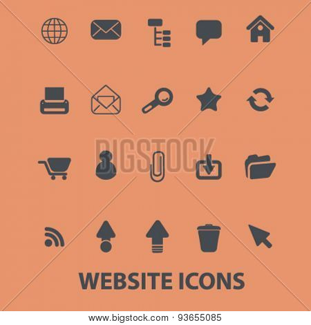 website, internet, page, interface icons, signs, illustrations set, vector