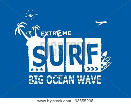 Surf Rider Text Design Element.