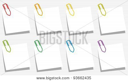 Paper Clips Notes Slips Colors