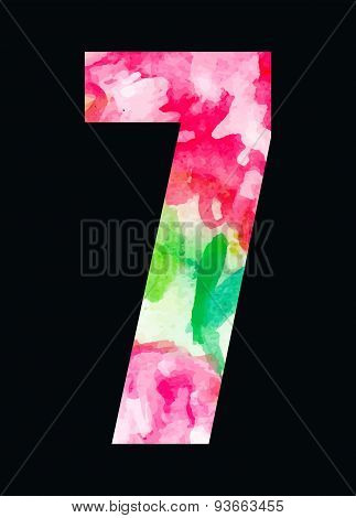 Flower type pink roses digit