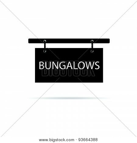 Bungalows Signboard Vector