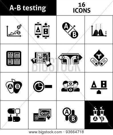 A-b Testing Icons Black