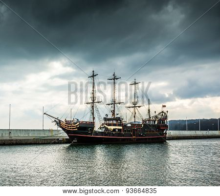 Pirate tourist ship in Sopot. Poland