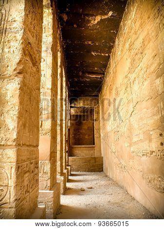 Corridor Of Columns At The Karnak Temple In Luxor (egypt)