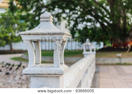 Thai Lamp On A Brige